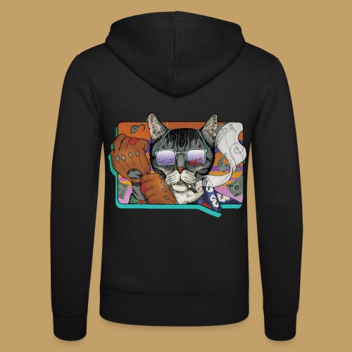 Crime Cat in Shades - Bluza z kapturem Bella + Canvas typu unisex