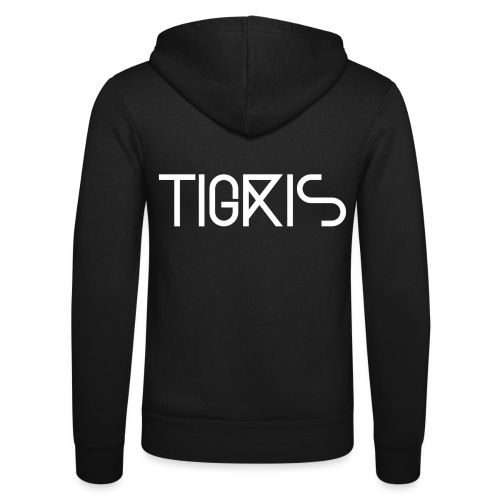 Tigris Vector Text White - Unisex Hooded Jacket by Bella + Canvas