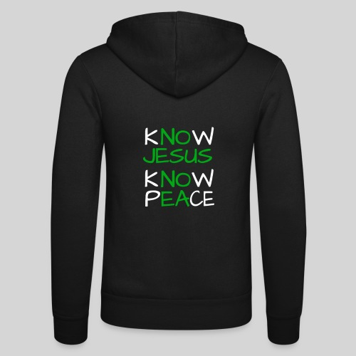 know Jesus know Peace - kenne Jesus kenne Frieden - Unisex Kapuzenjacke von Bella + Canvas