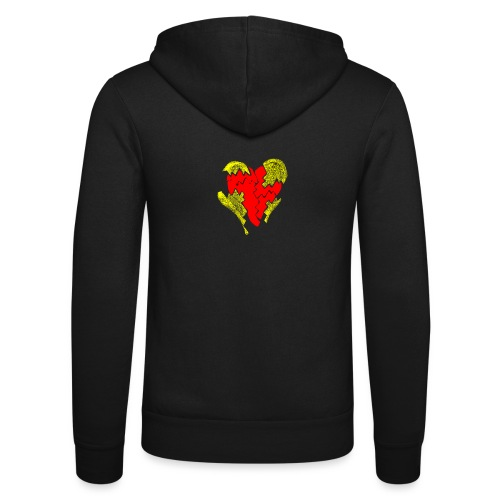 peeled heart (I saw) - Unisex Hooded Jacket by Bella + Canvas