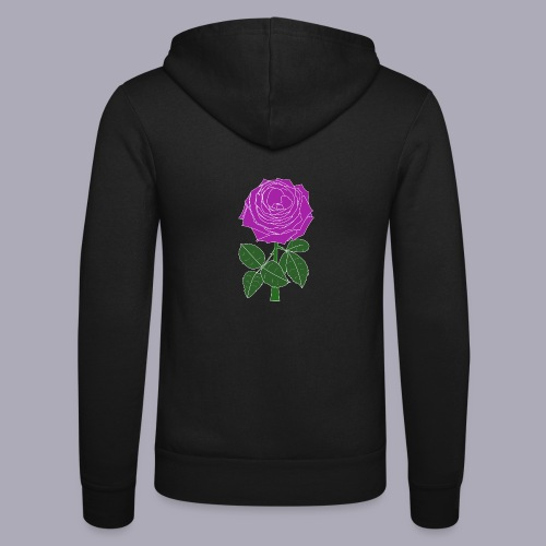 Landryn Design - Pink rose - Unisex Hooded Jacket by Bella + Canvas