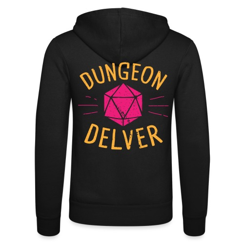 Dungeon Delver yellow pink - Unisex Hooded Jacket by Bella + Canvas