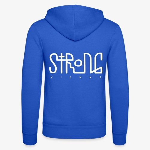 strong vienna logo white - Unisex Hooded Jacket by Bella + Canvas
