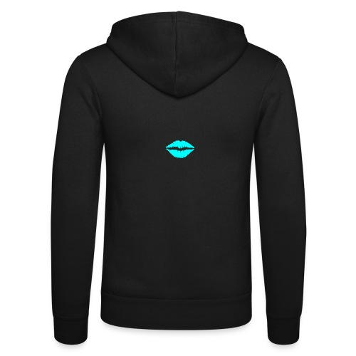 Blue kiss - Unisex Hooded Jacket by Bella + Canvas