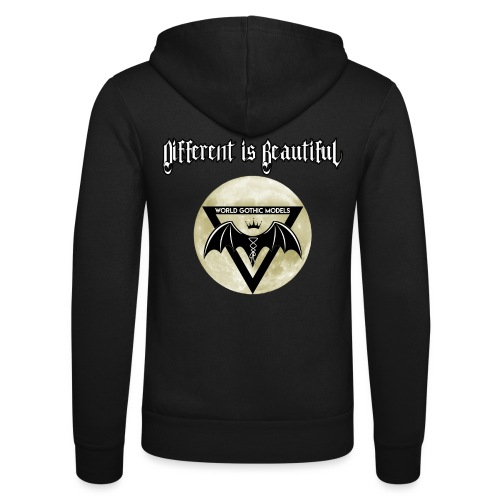 Different is Beautiful with Moon WGM Logo - Unisex Hooded Jacket by Bella + Canvas