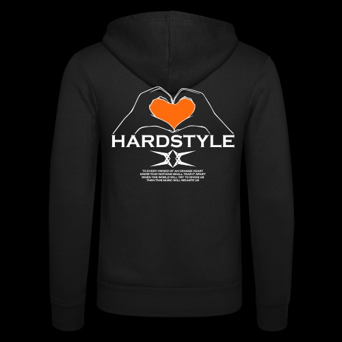 Hardstyle = My Style - Owner Of An Orange Heart - Unisex hoodie van Bella + Canvas