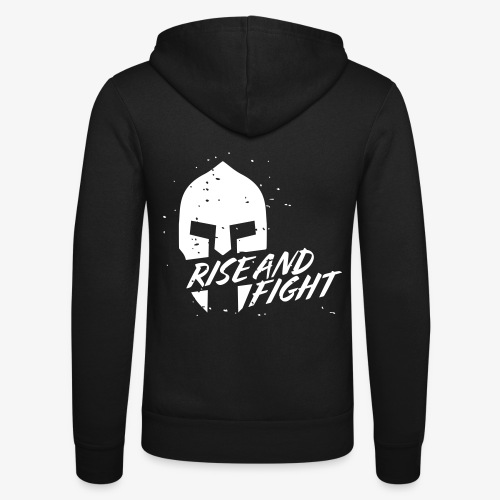 RISE AND FIGHT - Unisex Kapuzenjacke von Bella + Canvas