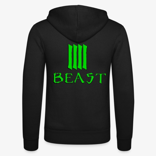 Beast Green - Unisex Hooded Jacket by Bella + Canvas