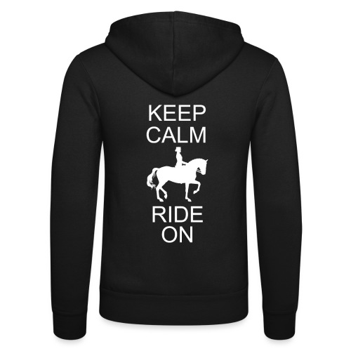 Keep Calm Ride On Dressurreiter - Unisex Kapuzenjacke von Bella + Canvas