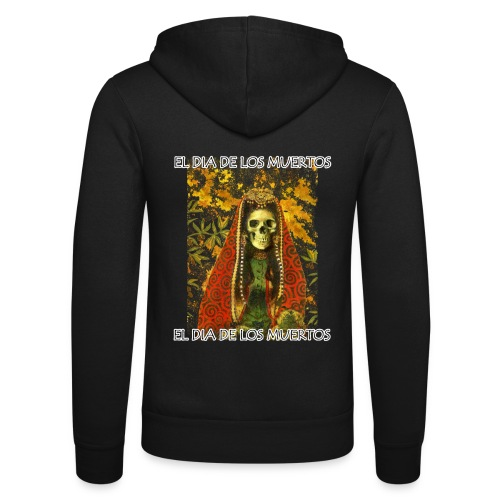 El Dia De Los Muertos Skeleton Design - Unisex Hooded Jacket by Bella + Canvas