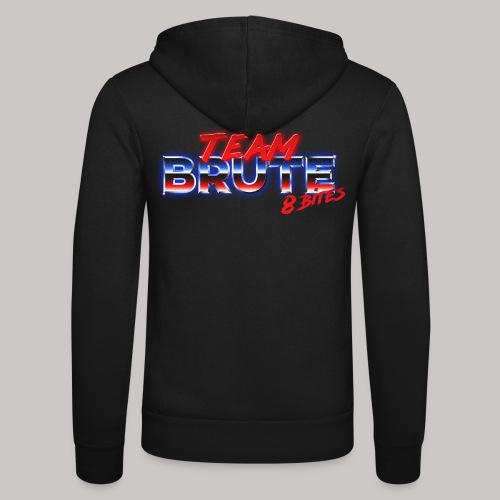 Team BRUTE Red - Unisex Hooded Jacket by Bella + Canvas
