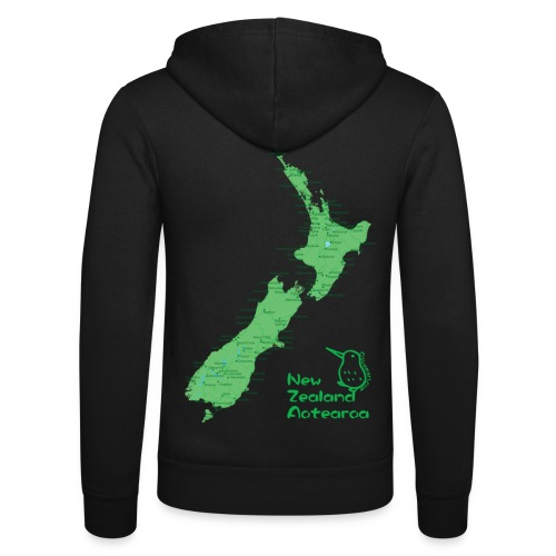 New Zealand's Map - Unisex Hooded Jacket by Bella + Canvas