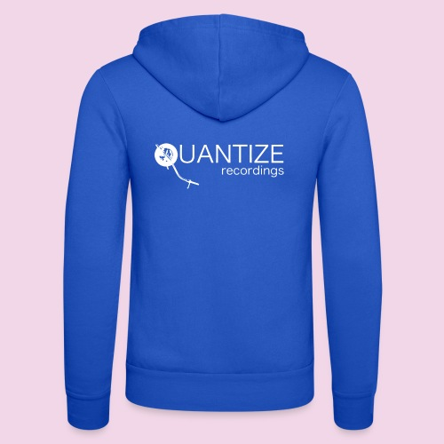 Quantize White Logo - Unisex Hooded Jacket by Bella + Canvas