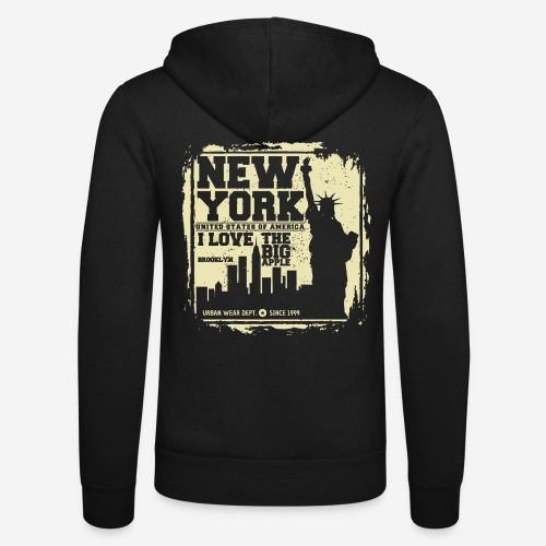 New York USA - Unisex Kapuzenjacke von Bella + Canvas