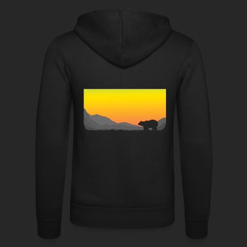 Sunrise Polar Bear - Unisex Hooded Jacket by Bella + Canvas