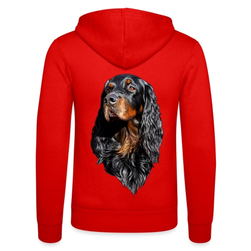 Gordon Setter Portrait - Unisex Bella + Canvas -hupputakki