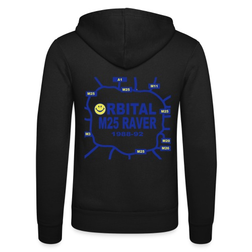 Orbital M25 Acid Hosue Raver - Unisex Hooded Jacket by Bella + Canvas