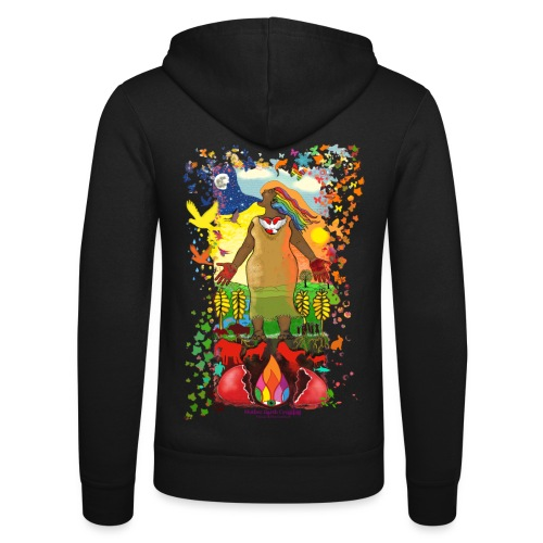 Mother Earth Creating - Unisex hoodie van Bella + Canvas