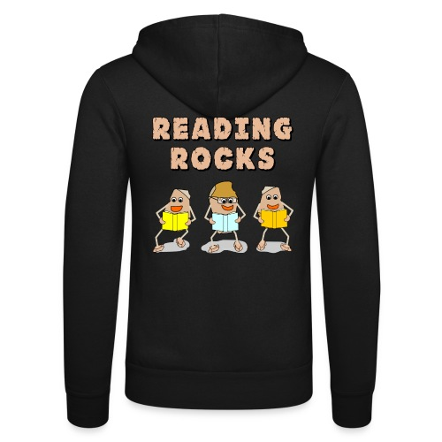Reading Rocks Funny Book Lovers - Unisex Hooded Jacket by Bella + Canvas