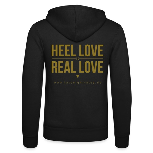 Heel Love is Real Love <3 - GOLD - Unisex Kapuzenjacke von Bella + Canvas