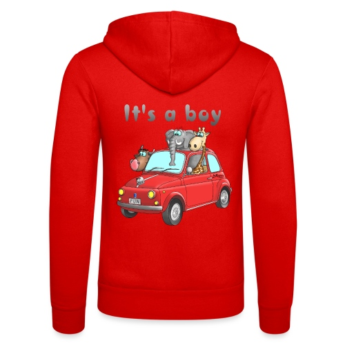 It's a boy - Baby - Cartoon - lustig - Unisex Kapuzenjacke von Bella + Canvas