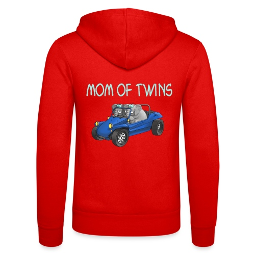 mom of twins - Unisex Kapuzenjacke von Bella + Canvas