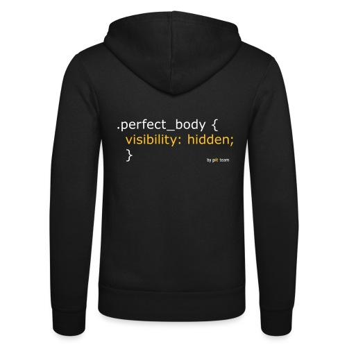 Perfect Body... - Unisex Kapuzenjacke von Bella + Canvas