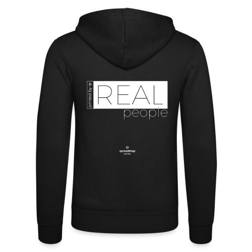 Real in white - Unisex Hooded Jacket by Bella + Canvas