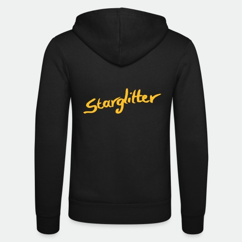 Starglitter - Lettering - Unisex Hooded Jacket by Bella + Canvas