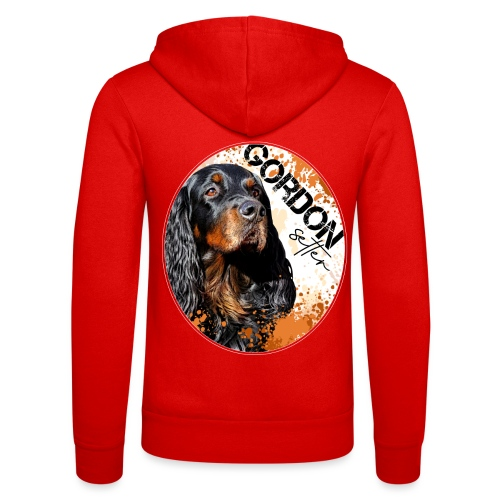 Gordon Setter Splash - Unisex Bella + Canvas -hupputakki