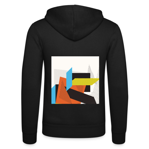 Vintage shapes abstract - Unisex Hooded Jacket by Bella + Canvas