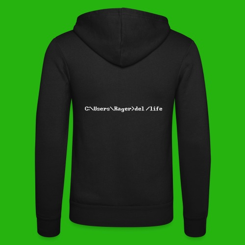 Programming Get A Life - Unisex Hooded Jacket by Bella + Canvas