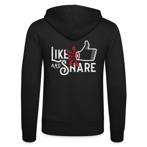 Like and share (white) - Luvjacka unisex från Bella + Canvas
