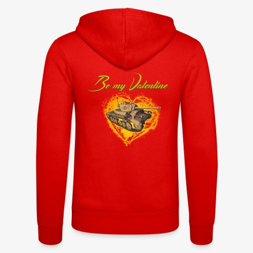 Glowing Valentine Heart - Unisex Kapuzenjacke von Bella + Canvas