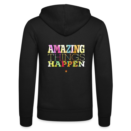 Amazing Things Happen - Simplified - Unisex Hooded Jacket by Bella + Canvas
