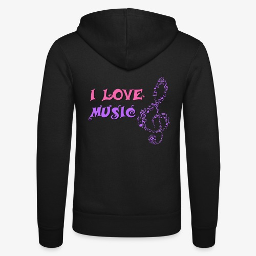 Love Music - Nuestra chaqueta con capucha de Bella + Canvas