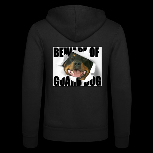 beware of guard dog - Unisex Hooded Jacket by Bella + Canvas