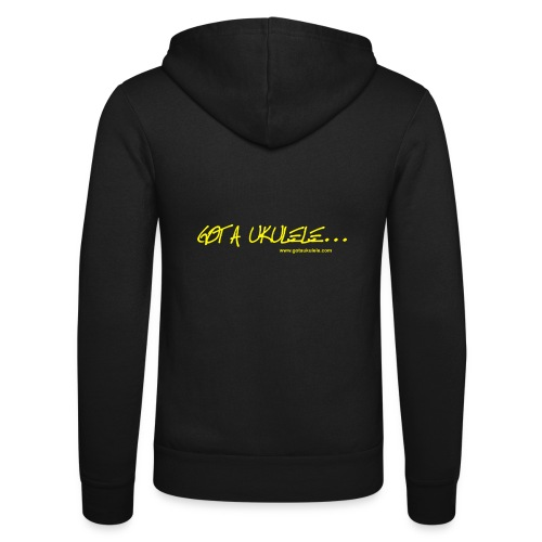 Official Got A Ukulele website t shirt design - Unisex Hooded Jacket by Bella + Canvas