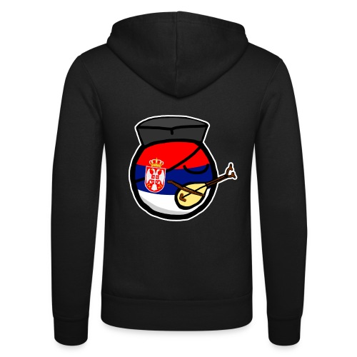 Serbiaball - Unisex Hooded Jacket by Bella + Canvas