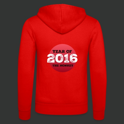 2016 year of the monkey - Unisex Hooded Jacket by Bella + Canvas