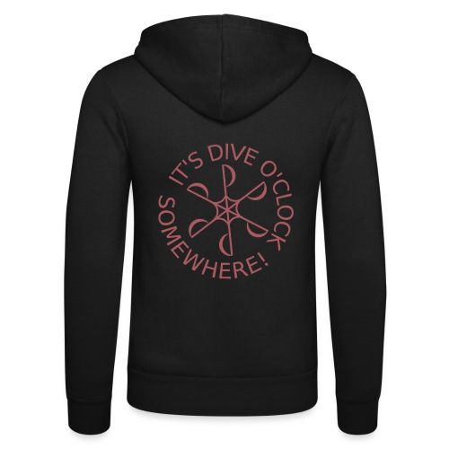 Dive o clock Dark Pink - Unisex Hooded Jacket by Bella + Canvas