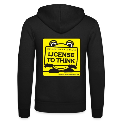 Licence to Think - Unisex Hooded Jacket by Bella + Canvas