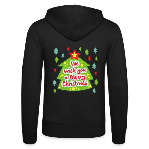 We wish you a Merry Christmas - Unisex Hooded Jacket by Bella + Canvas