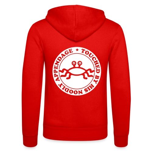 Touched by His Noodly Appendage - Unisex Hooded Jacket by Bella + Canvas