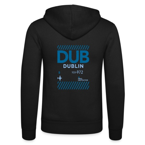 Dublin Ireland Travel - Unisex Hooded Jacket by Bella + Canvas