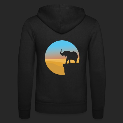 Sunset Elephant - Unisex Hooded Jacket by Bella + Canvas