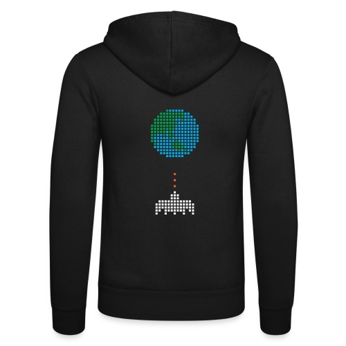 Earth Invaders - Unisex Kapuzenjacke von Bella + Canvas