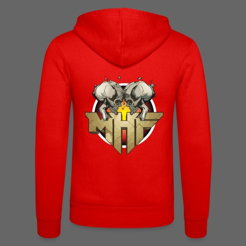 new mhf logo - Unisex Hooded Jacket by Bella + Canvas