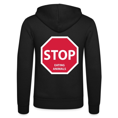 Stop-Eating-Animals - Unisex Kapuzenjacke von Bella + Canvas