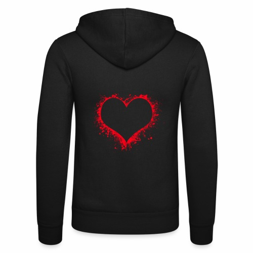 Love you - Unisex Kapuzenjacke von Bella + Canvas